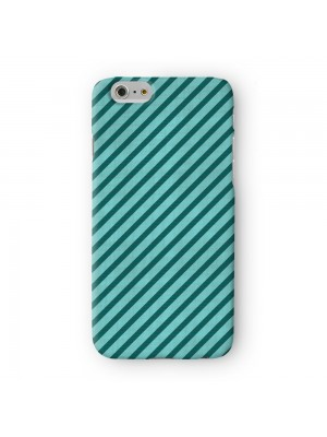 Diagonal Stripes Green Full Wrap 3D Printed Case for Apple iPhone 6 6S Plus by Gadget Glamour