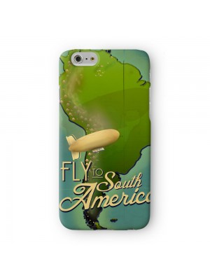 South America Full Wrap 3D Printed Case for Apple iPhone 6 6S Plus by Nick Greenaway