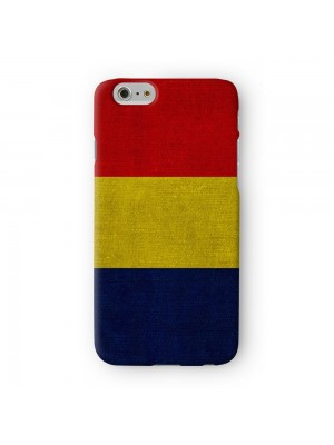 Canvas Flag of Romania Romanian Flag Full Wrap 3D Printed Case for Apple iPhone 6 6S Plus by World Flags