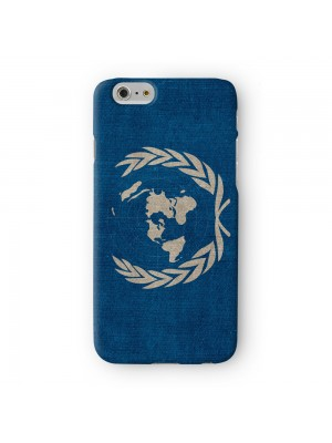 Canvas Flag of United Nations UN Flag Full Wrap 3D Printed Case for Apple iPhone 6 6S Plus by World Flags