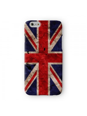 Grunge Paper Flag of United Kingdom - UK Flag - Union Jack - Great Britain Flag Full Wrap 3D Printed Case for Apple iPhone 7 7S Plus by World Flags
