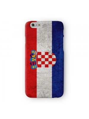 Old Grunge Metal Flag of Croatia Croatian Flag Full Wrap 3D Printed Case for Apple iPhone 6 6S Plus by World Flags