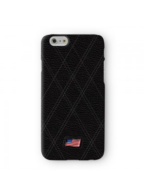 Stylish Black Leather Flag of United States US Flag American Flag USA Flag Full Wrap 3D Printed Case for Apple iPhone 6 6S Plus by World Flags