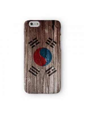 Vintage Wood Flag of Korea South - Korean Flag Full Wrap 3D Printed Case for Apple iPhone 7 7S Plus by World Flags