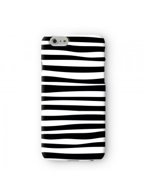 Modern Irregular Black and White Stripes Full Wrap 3D Printed Case for Apple iPhone 6 6S Plus by UltraCases