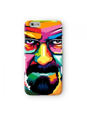 Heisenberg WPAP Portrait 02 Full Wrap 3D Printed Case for Apple iPhone 6 6S Plus by UltraCases