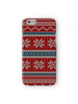 Red nd White Ugly Christmas Sweater Knitted Pattern Full Wrap High Quality 3D Printed Case for Apple iPhone 7 7S Plus by UltraCases