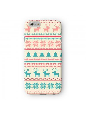 Pastels Christmas Pattern Premium Full Wrap Case for iPhone 6 6S Plus by UltraCases