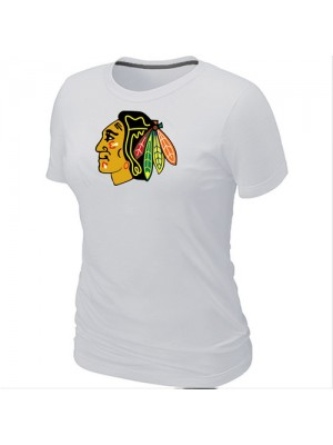 Chicago Blackhawks Women's Team Logo Short Sleeve T-Shirt - White