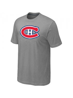 Montreal Canadiens Mens Team Logo Short Sleeve T-Shirt - light Grey
