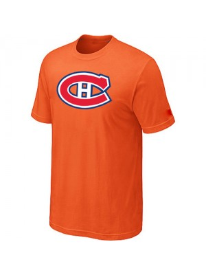 Montreal Canadiens Mens Team Logo Short Sleeve T-Shirt - Orange