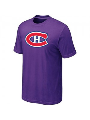 Montreal Canadiens Mens Team Logo Short Sleeve T-Shirt - Purple