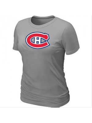 Montreal Canadiens Women's Team Logo Short Sleeve T-Shirt - light Grey