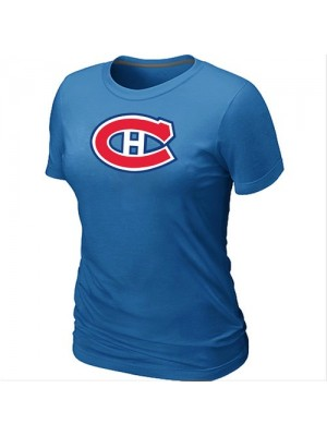 Montreal Canadiens Women's Team Logo Short Sleeve T-Shirt - light Blue