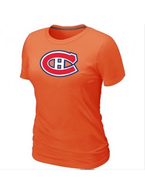 Montreal Canadiens Women's Team Logo Short Sleeve T-Shirt - Orange
