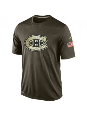 Men's Montreal Canadiens Nike Olive Salute To Service KO Performance Dri-FIT T-Shirt