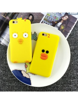 Free Shipping 3d Yellow Duck Cartoon Phone Case for iPhone 5 5s 6 6s Plus iPhone 7/7 Plus plus
