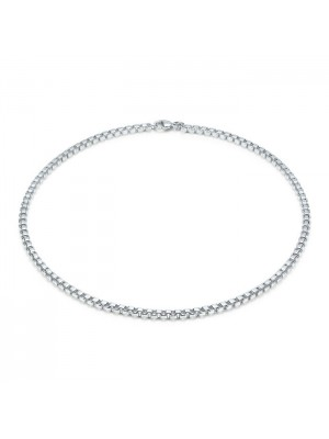 Lady Fashion Venetian Link 925 silver necklace
