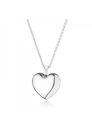 Lady Fashion Heart silver pendant with cubic zirconia 925 Sterling Silver Necklace