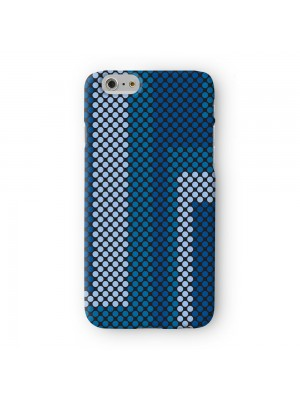 Digital Dots - Blue Full Wrap 3D Printed Case for Apple iPhone 7 7S Plus by Gadget Glamour