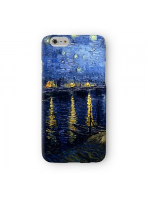 Starry Night Over the Rhone by Van Gogh Full Wrap 3D Printed Case for Apple iPhone 7 7S Plus by Painting Masterpieces