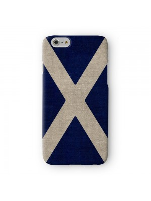 Canvas Flag of Scotland Scottish Flag Bratach na h-Alba Banner o Scotland Full Wrap 3D Printed Case for Apple iPhone 6 6S Plus by World Flags