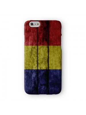 Grunge Wood Flag of Romania - Romanian Flag Full Wrap 3D Printed Case for Apple iPhone 7 7S Plus by World Flags