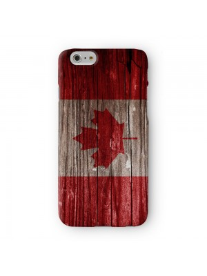 Vintage Wood Flag of Canada - Canadian Flag Full Wrap 3D Printed Case for Apple iPhone 7 7S Plus by World Flags