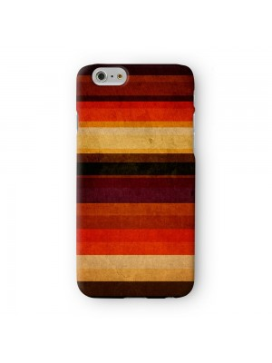 Dark Warm Stripes Pattern Full Wrap 3D Printed Case for Apple iPhone 6 6S Plus by UltraCases