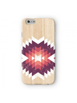 Tribal Geometric Art on Wood Texture Full Wrap 3D Printed Case for Apple iPhone 7 7S Plus by UltraCases