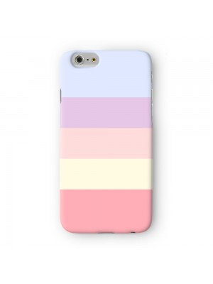 Light Pastel Color Stripes Full Wrap 3D Printed Case for Apple iPhone 6 6S Plus by UltraCases