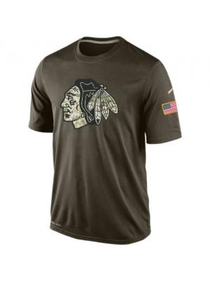 Men's Chicago Blackhawks Nike Olive Salute To Service KO Performance Dri-FIT T-Shirt
