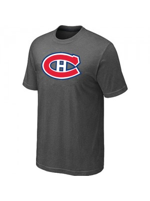 Montreal Canadiens Mens Team Logo Short Sleeve T-Shirt - Dark Grey