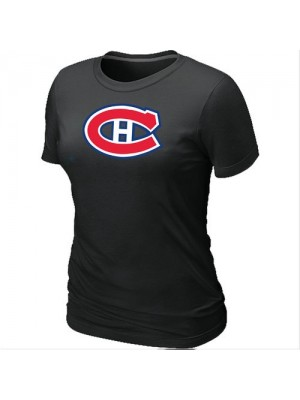 Montreal Canadiens Women's Team Logo Short Sleeve T-Shirt - Black