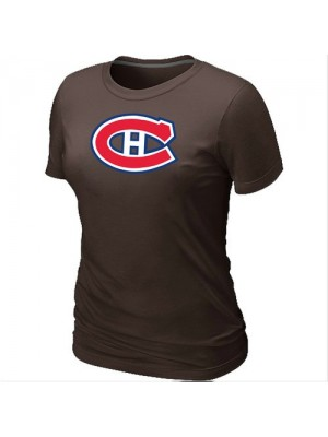Montreal Canadiens Women's Team Logo Short Sleeve T-Shirt - Brown