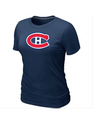 Montreal Canadiens Women's Team Logo Short Sleeve T-Shirt - Dark Blue