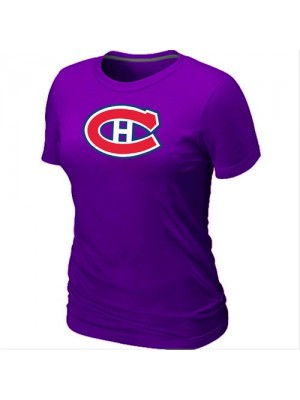 Montreal Canadiens Women's Team Logo Short Sleeve T-Shirt - Purple