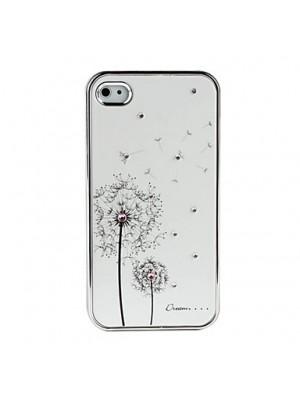 Elegant White Dandelion iPhone 7/7 Plus Case with Rhinestones for iPhone 5S/6S/7 Plus SE Cases