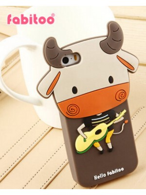 iPhone 6 Cute Cow Silicone Cartoon Case For iPhone 7/7 Plus Cartoon cases