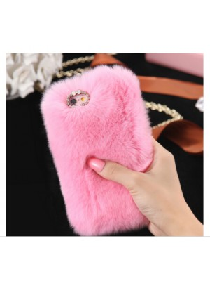 Fashion Luxury Cute Cartoon Rabbit Hair Bling Diamond Cover For iPhone 7/7 Plus 6 6s / iPhone 6 7 Plus