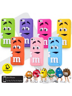 iPhone 6s Plus 3d Cute M&M Case Cover, iphone 6 plus m&m case For iPhone 7/7 Plus plus