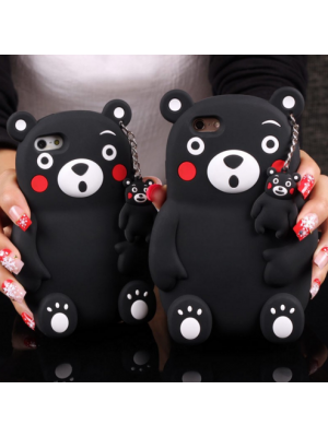 Kawaii Japan Style Cute Stereoscopic Lovely 3D Bear Soft Silicone Cute Case for iPhone 7/7 Plus 7 Plus 6 6S 6 Plus 6S Plus Cases