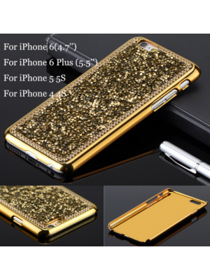 Luxury Brand Bling Rhinestone Diamond Crystal Hard Back Cover Case For iPhone 7/7 Plus 6 6S 4.7'' & 6S Plus 5 5S 4 4S Phone Accessories