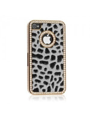 Luxury Designer Bling Crystal Leopard Cheetah Fur Hard Case Cover for iPhone 5S 6S 7 Plus Cases