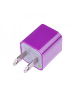 Purple USB Wall Charger AC Power Adapter for Apple iPod, iPhone 4, 4S, 5/5S/6/6S Plus iPhone 7/7 Plus Accessories