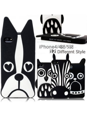 Zebra Owl Dog Cute Animals Soft Silicone Case for iPhone 4/4s/5/5s/6/6plus, galaxy phones