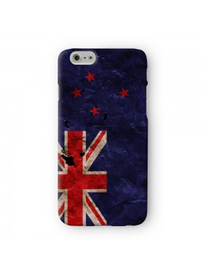 Grunge Paper Flag of New Zealand Full Wrap 3D Printed Case for Apple iPhone 6 6S Plus by World Flags