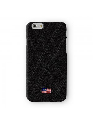 Stylish Black Leather Flag of Malaysia Malaysian Flag Jalur Gemilang Full Wrap 3D Printed Case for Apple iPhone 6 6S Plus by World Flags