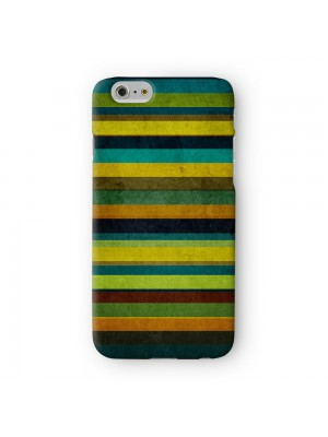 Mint Green Colorful Stripes Full Wrap 3D Printed Case for Apple iPhone 6 6S Plus by UltraCases