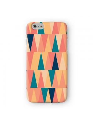 Tall Colorful Geometric Triangles Full Wrap 3D Printed Case for Apple iPhone 7 7S Plus by UltraCases